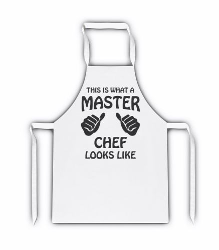 This Is What A Master Chef Looks Like White Adult Apron